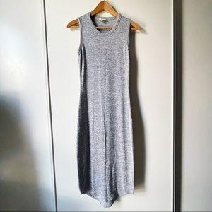 Aritzia Wilfred Free Bruni midi dress heather grey
